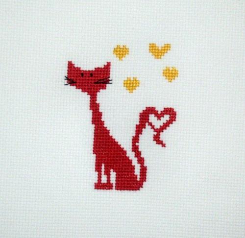 #HaftKrzyżykowy #kot #zwierzęta
