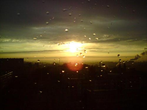 Niebrów pod koniec dnia po burzy. #TomaszówMazowiecki