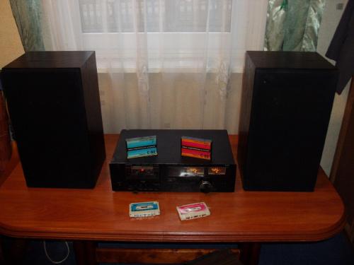 Unitra ZRK Stereo Cassette Deck M7008 Zestaw głośnikowy Unitra Tonsil Space '86 #StilonUnitraTonsilDioraDeck