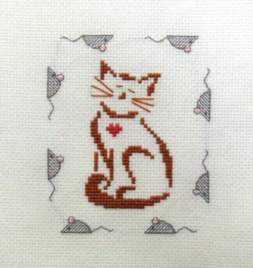 #HaftKrzyżykowy #kot #kotek