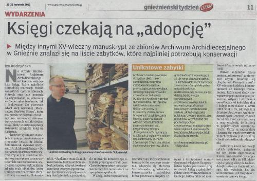 """Księgi czekają na """"adopcję"""" AA Gniezno"""