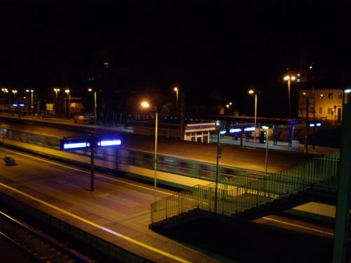 Szczecin.Dworzec nocą .