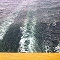 Wypływamy, kilwater za nami #Wycieczka