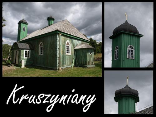 meczet w Kruszynianach, 08.2009 [Olympus E-410, Zuiko Digital 14,42; ZD Tele 70-300 +filtr UV] #chmury #meczet #Kruszyniany #pocztówka