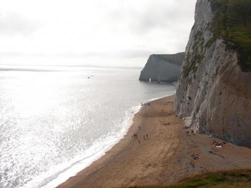 Białe skały #Anglia #klif #BiałeSkały #Dorset #widok #morze #plaża