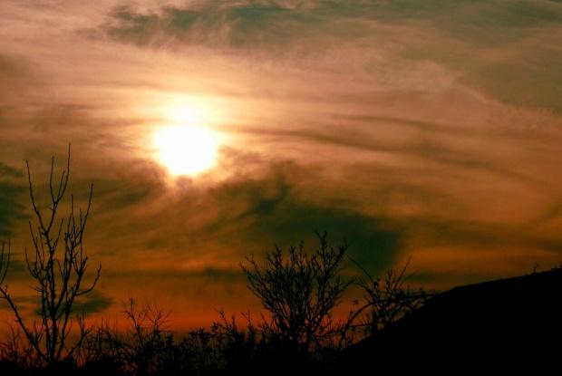 zimowe slonko:) #zachod #slonce #niebo