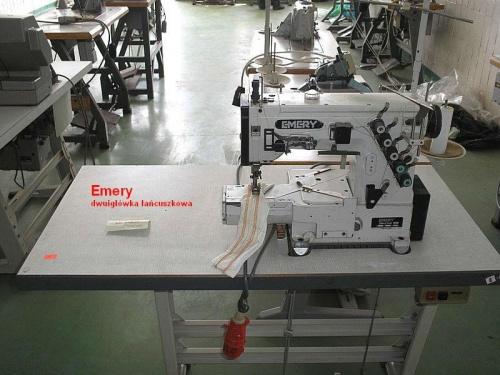 Emery dwuigłówka łańcuszkowa - obrębiarka