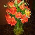 na 18 #bibuła #bukiety #krepina #kwiaty #róże