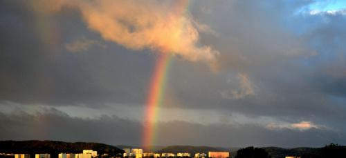 #tęcza #niebo #chmury #pogoda