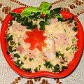 Sałatka z kuskusu, szynki i sera Camembert #SerCamembert #szynka #kuskus #SaŁatka #przekąski #kolacje #jedzenie #gotowanie #kulinaria #PrzepisyKulinarne