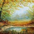 #obraz #obrazy #malarstwo #garncarek #aleksander #olej #płótno #jesień #zima #lato #wiosna