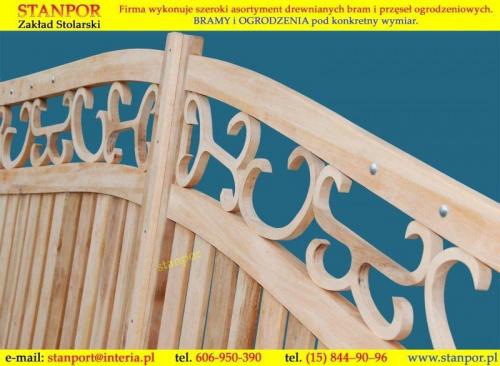 Producent drewnianych bram dwuskrzydłowych Stolarnia Stanpor zapraszam na moja stronę internetową www.stanpor.pl