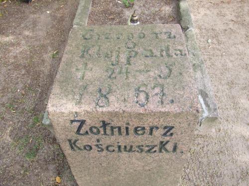 Insurekcja Kościuszki Grzegorz Klejpada pochowany Trzemeszno