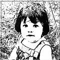 Amelka #Amelka #portret #dziecko #grafika #MojePrace