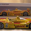 Porsche RS DHL Spyder AUTOart 1:18 #Porsche #AutoArt #wyścigi #LMS #DHL #Spyder #rzadki #rarytas #unikat #modele #samochody #samochód #millenium #RacingDevision #devision #racing