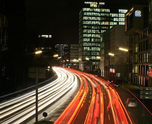Po nocy.. #auta #ulica #noc #swiatla #korek