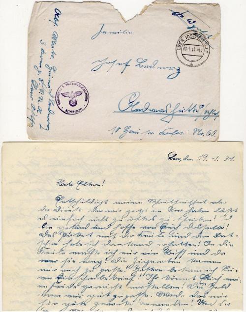 LEER 1,12,1940--28,01,1941 .6 x Feldpost Schiffsstammabteilung .