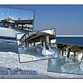Nad morzem w Brzeznie, Zatoka Gdańska skuta lodem, można praktycznie do Szwecji.... #Gdańsk #NadMorzem #plaża #zima #mróz