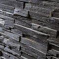 www.karier.pl, Black Quarzite brickstone, łupek kwarcytowy, modułowy 60x15x1,5-3 + marożniki, prosty montaż. #karier #granit #trawertyn #łupek #kamieniarstwo #budowlane #warszawa #bielany #żoliborz #kamień #naturalny #arkuszowa #wapień #laski