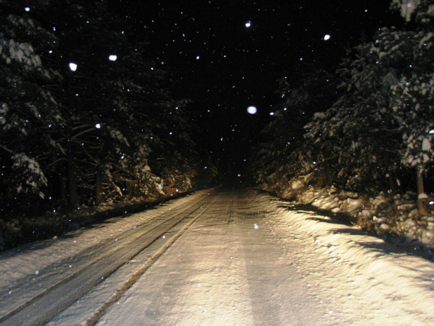 zima... powrót z pracy #zima #snieg #drzewa #widok #plener