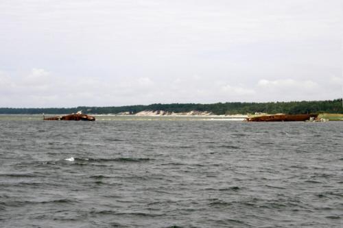 wraki okrętów niedaleko portu wojennego na Helu #wrak #Hel #morze